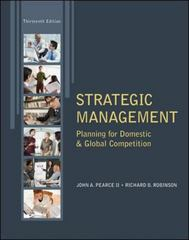 Strategic Management 13th edition 9780078029295 0078029295