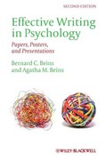 Effective Writing in Psychology 2nd edition 9780470671245 0470671246