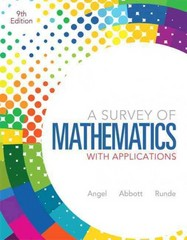 A Survey of Mathematics with Applications 9th edition 9780321759665 0321759664
