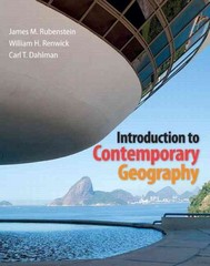 Introduction to Contemporary Geography 1st Edition 9780321803191 0321803191