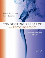 Cengage Advantage Books: Conducting Research in Psychology: Measuring the Weight of Smoke 4th Edition 9781133588054 1133588050