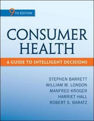 Consumer Health 9th Edition 9780078028489 0078028485