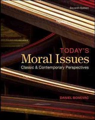 Today's Moral Issues 7th Edition 9780078038211 0078038219