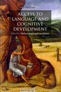 Access to Language and Cognitive Development 0 9780199592722 0199592721