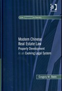 Modern Chinese Real Estate Law 1st Edition 9781317094722 1317094727