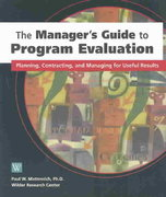 The Manager's Guide to Program Evaluation 0 9780940069381 0940069385