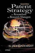 Patent Strategy for Researchers and Research Managers 2nd edition 9780471492610 0471492612