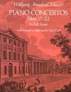 Piano Concertos Nos. 17-22 in Full Score 0 9780486235998 0486235998
