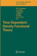 Time-Dependent Density Functional Theory 1st edition 9783540354222 3540354220
