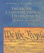 American Constitutional Development 1st edition 9780801320194 0801320194