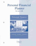 Personal Financial Planner to accompany Personal Finance 7th Edition 9780072534191 0072534192
