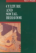 Culture and Social Behavior 1st Edition 9780070651104 0070651108