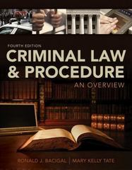 Criminal Law and Procedure 4th Edition 9781305172166 1305172167