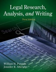 Legal Research, Analysis, and Writing 3rd edition 9781133591900 1133591906