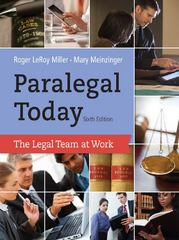 Paralegal Today 6th edition 9781133591078 1133591078