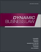 Loose-Leaf Dynamic Business Law 2nd edition 9780077489991 0077489993