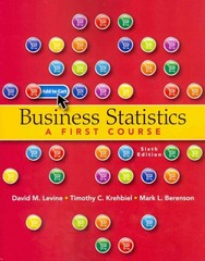 Business Statistics 6th Edition 9780132807265 0132807262