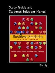 Student Solutions Manual for Business Statistics 6th edition 9780132807326 0132807327