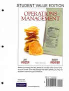 Operations Management, Student Value Edition and MyOMLab with Pearson eText -- Access Card Package 10th edition 9780132935470 0132935473