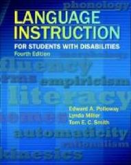 Language Instruction for Students with Disabilities 4th edition 9780891083511 0891083510