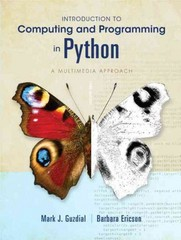 Introduction to Computing and Programming in Python 3rd edition 9780132923514 0132923513
