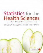 Statistics for the Health Sciences 1st Edition 9781849203364 1849203369