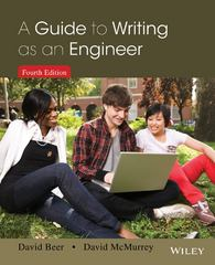 A Guide to Writing as an Engineer 4th Edition 9781118300275 1118300270