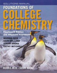 Foundations of College Chemistry, Student Solutions Manual 14th edition 9781118289013 1118289013