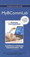 2012 MyBCommLab with Pearson eText -- Access Card -- for Excellence in Business Communication