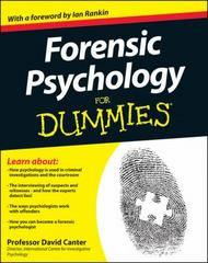 Forensic Psychology For Dummies 1st Edition 9781119976240 1119976243