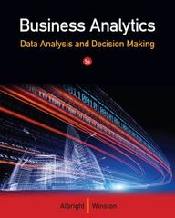 Business Analytics 5th Edition 9781133629603 1133629601