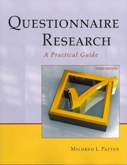 Questionnaire Research-3rd Ed 3rd Edition 9781884585944 1884585949