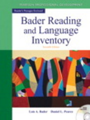 Bader Reading & Language Inventory 7th edition 9780132943680 0132943689