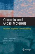 Ceramic and Glass Materials 1st edition 9780387733616 0387733612