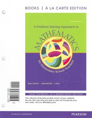 Problem Solving Approach to Mathematics, A, Books a la Carte Edition 11th edition 9780321783264 0321783263