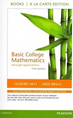 Basic College Mathematics through Applications, a la Carte Edition 5th edition 9780321757111 0321757114