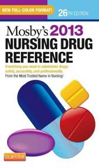 Mosby's 2013 Nursing Drug Reference 26th Edition 9780323086424 032308642X