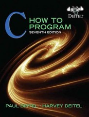 C How to Program 7th Edition 9780132990448 013299044X