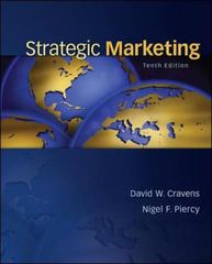 Strategic Marketing 10th Edition 9780078028908 0078028906