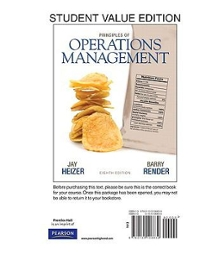 Principles of Operations Management, Student Value Edition Plus NEW MyOMLab with Pearson eText -- Access Card Package 8th edition 9780132931267 0132931265
