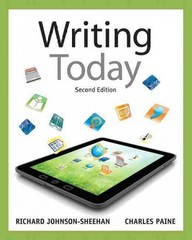 Writing Today 2nd Edition 9780205210084 0205210082