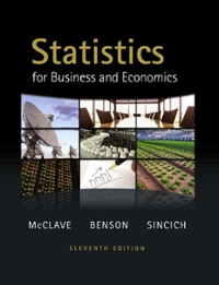 Statistics for Business and Economics with MathXL (12-month access) 11th edition 9780321734549 0321734548