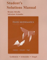 Finite Mathematics & Its Applications with Student Solutions Manual 10th edition 9780321631695 0321631692