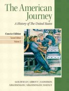 American Journey, The, Concise Edition, Volume 2 Plus NEW MyHistoryLab with eText -- Access Card Package 2nd edition 9780205219599 0205219594