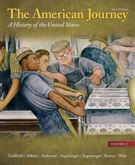 American Journey, The: A History of the United States, Volume 2 Reprint Plus NEW MyHistoryLab with eText -- Access Card Package 6th edition 9780205212323 0205212328