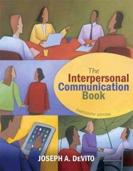 The Interpersonal Communication Book 13th Edition 9780205031085 0205031080