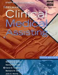 Study Guide for Delmar's Clinical Medical Assisting 5th edition 9781133603160 1133603165