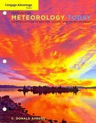 Cengage Advantage Books: Meteorology Today 10th edition 9781111990824 1111990824