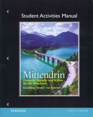 Student Activities Manual for Mittendrin 1st Edition 9780135022627 0135022622