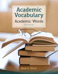 Academic Vocabulary 5th Edition 9780205211852 0205211852